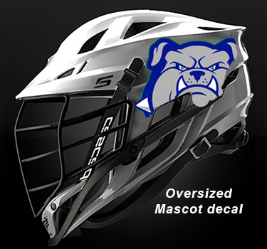mascot and logo lacrosse decals by decalguyz